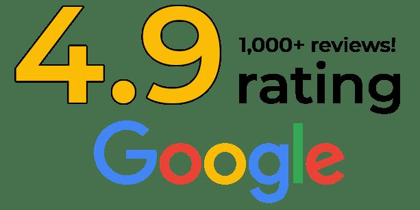 4.9 rating on google