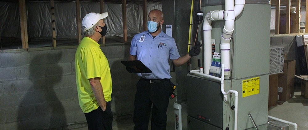 Reviewing a residential furnace installation