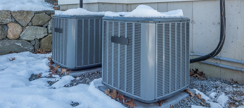 Air conditioners in the snow