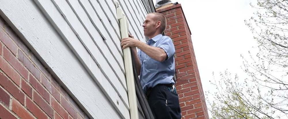 Installing a line protector on a ductless mini-split