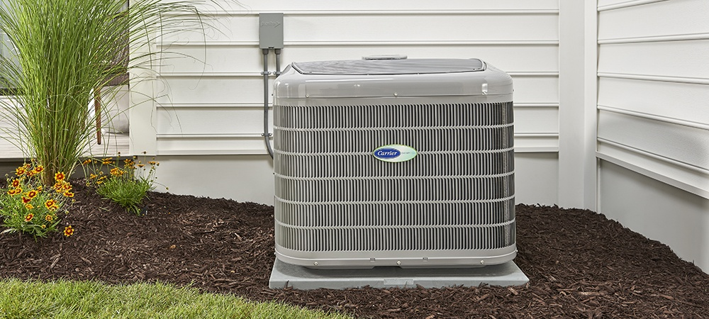 An installed air conditioner