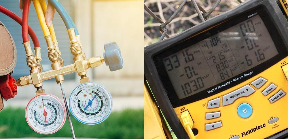 Analog vs. digital commissioning gauges