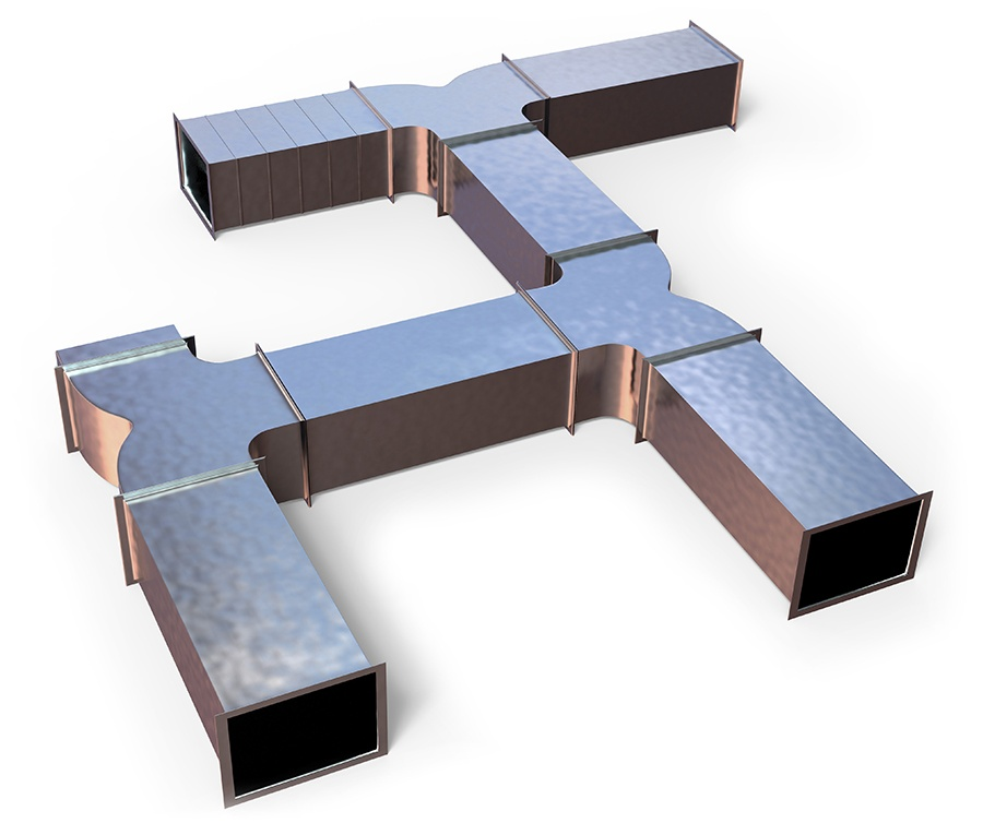Mockup of home ductwork.