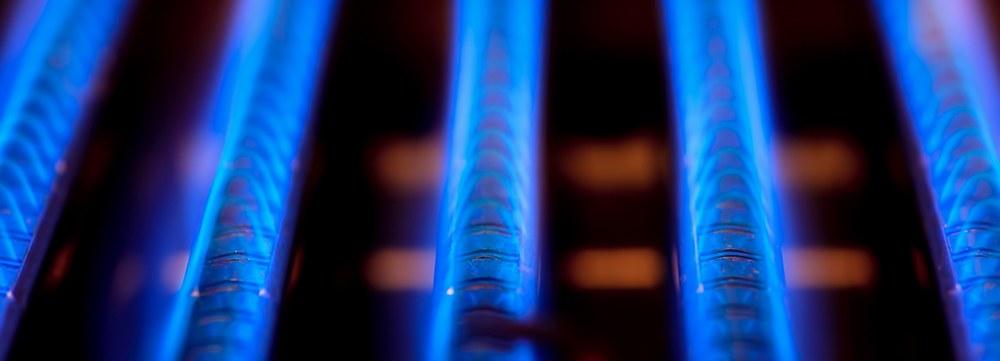 Burner on a new furnace installation