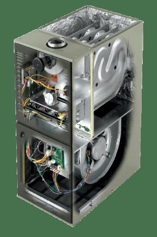 Inside a furnace unit