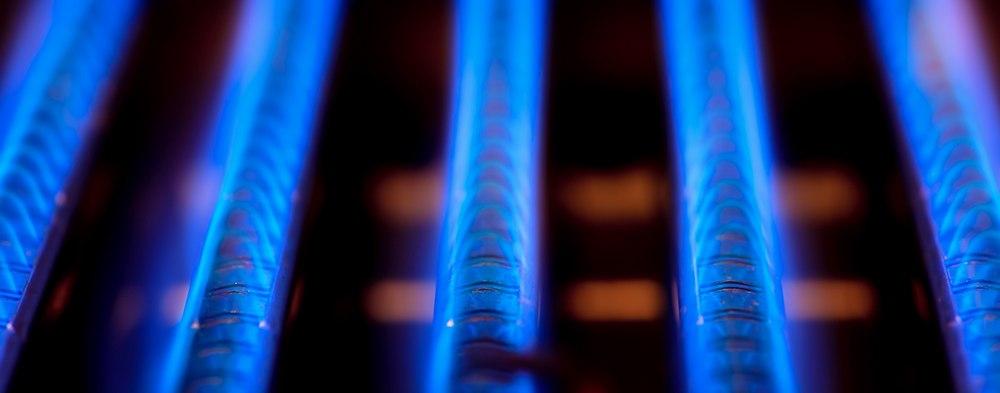 Burner on a home furnace