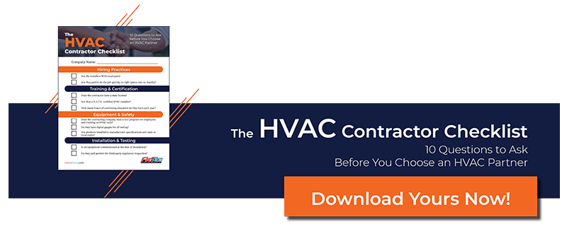 HVAC Contractor Checklist